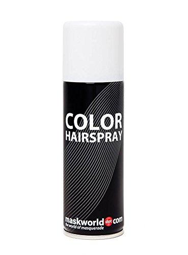 Maskworld Color Hairspray - farbiges Haarspray bunt Colorspray (Weiß) (Halloween-haarspray Weiße)