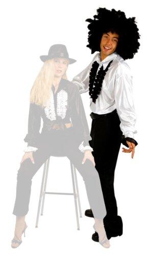 Noire Noir Kostüm Et Chemise - Chemise Disco bi - couleur noire et blanche