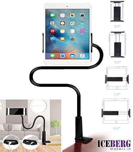 ICEBERG MAKERS Awei X3 Cell Phone Stand and Flexible Gooseneck Lazy Arm Bracket for 4-10.5-inch Mobiles and Tablets(Multicolour)