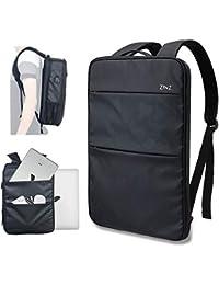 ZINZ Sac à Dos 15 15,6 16 Pouces Housse de Protection Imperméable Ultra Mince et Extensible à 150% avec Port USB - Camouflage Noir