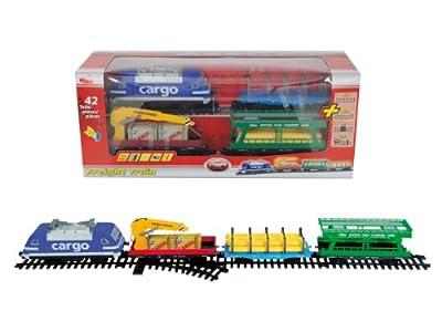Dickie 203563905 - Freight Train, batteriebetriebener Zug mit Anhängern von Dickie