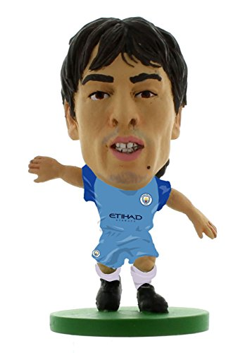 SoccerStarz SOC229 2017 Version Man City David Silva Home Kit