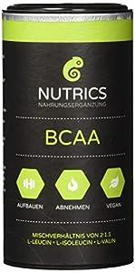 Nutrics BCAA   100% Vegan   120 Kapseln   Verhältnis 2:1:1   Hergestellt in...