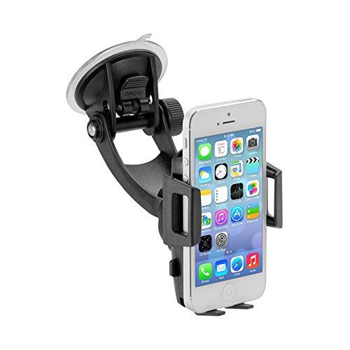 iGRIP T5-1880 TRAVELER Kit Kompakte Halterungslösung für Smartphones z. B. Apple iPhone 7/8 (Plus), Samsung Galaxy, OnePlus, Google Pixel [Made in Germany I 360 Grad drehbar I vibrationsfrei] Iphone 3g-auto-kit