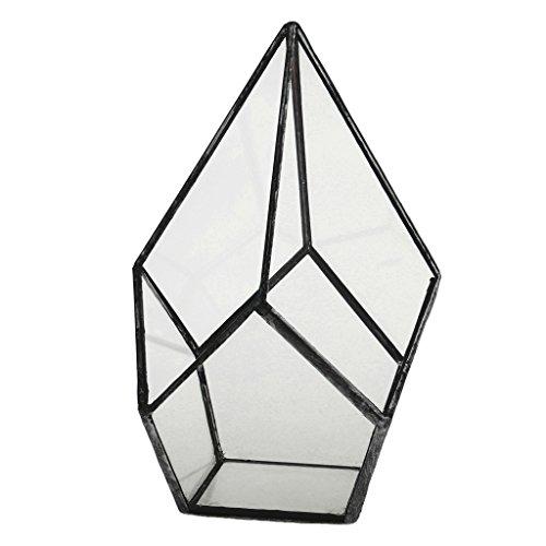 Baoblaze mini serra di vetro prisma decorazione da giardino - 16 x 16 x 25 centimetri
