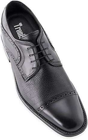 Masaltos Zapatos de Hombre con Alzas Que Aumentan Altura Hasta 7 cm. Fabricados EN Piel. Modelo Berlin.