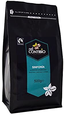 Cafe Contibio Sinfonia - Espresso Coffee Beans - Dark Roast - 1kg Bag - Whole Beans by Cafe Contibio