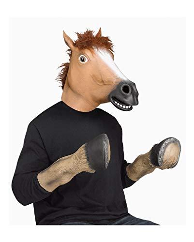 Pferdehufe Kostüm - Horror-Shop Pferdehuf Handschuhe