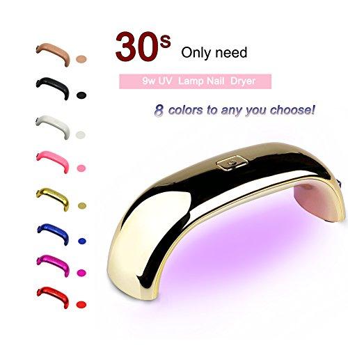 Mode Galerie 9W USB Ligne Mini Lampe LED Portable Séchoires à Ongles pour Vernis Gel Semi Permanent Rose Or