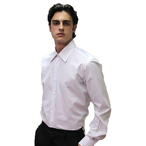 Fratelliditalia camicia da uomo cotone ristorante cameriere da lavoro maniche lunghe sala