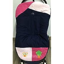 Colchoneta reversible para silla de paseo universal con rizo americano. Funda reversible silla de coche. Mundi Bebé.