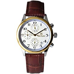 Megia Unisex Chronograph Modellreihe W0613-16A2BS Lederarmband 3ATM