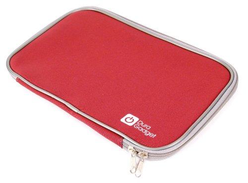DURAGADGET ROTE, wasserabweisende Hülle aus Neopren, kompatibel mit LENOVO IdeaTab S6000L Tablet PCs