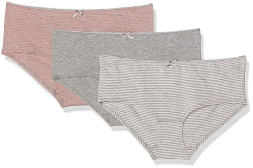 Marc O'Polo Body & Beach Damen Panties Hipster Panty (3er Pack), (Grau-Mel. 202), 40 (Herstellergröße: L)