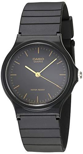 Casio MQ24–1E Herren-Armbanduhr, Schwarz, Kunstharz, Quarzuhr mit schwarzem Zifferblatt