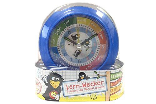 Lern-Wecker Kinderwecker, Lernuhr, Wecker mit Licht, Uhr für Kinder (blau)