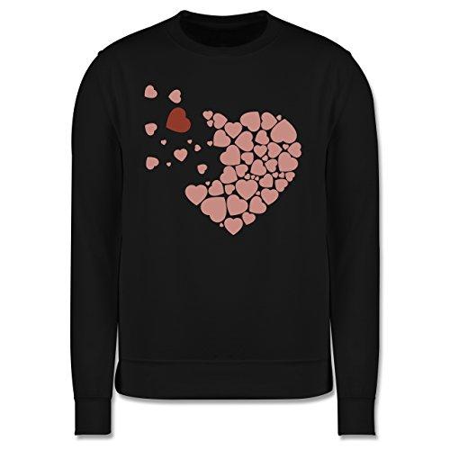 Romantisch - Herz Herzchen - Herren Premium Pullover Schwarz