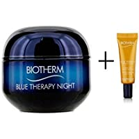 Biot herm Blue Therapy 2 piezas Set contenido: Biot herm Blue Therapy Night Cream contenido: 50 ml y Biot herm Blue Therapy Cream pcs Oil Nutritive Repairing Cream pcs Oil, contenido: 10 ml