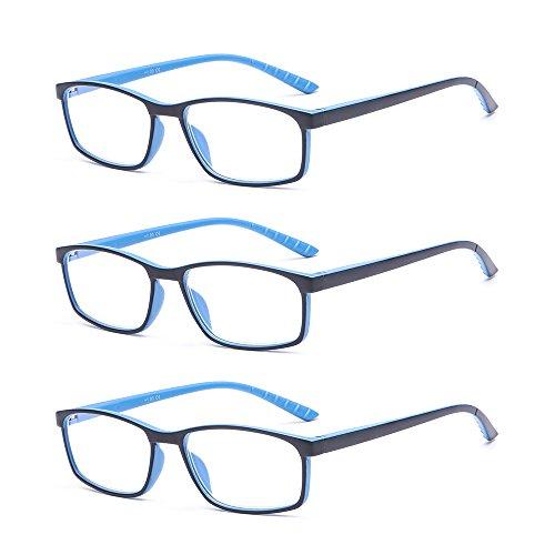 Suertree Anti-blaue (3 Pack) Lesebrillen Sehhilfe Augenoptik Brille Lesehilfe für Damen Herren von BM141 1.5