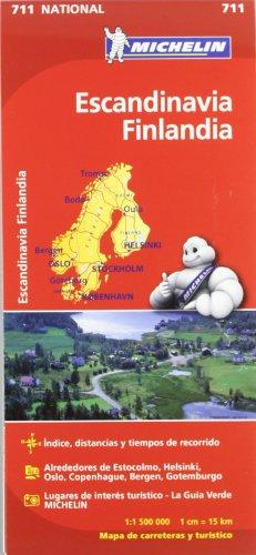 Mapa National Escandinavia Finlandia (Mapas National Michelin) por Vv.Aa