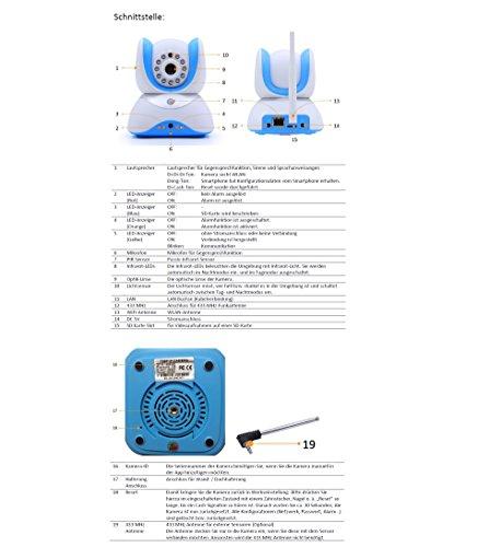 HiKam Q7 Wireless IP Kamera Überwachungskamera HD für Smartphone/PC mit deutscher App/Anleitung/Support(Tag/Nachtsicht - 6