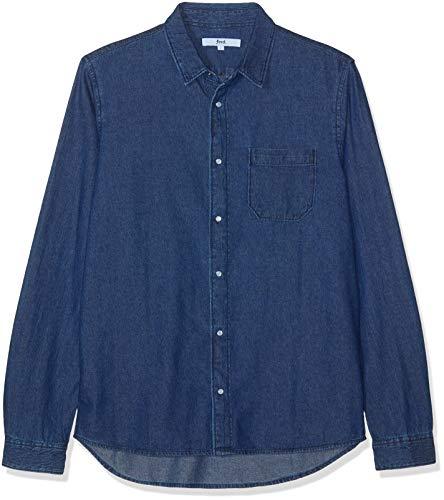 Find. camicia di jeans uomo, blu (dk.wash), x-large
