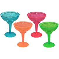 Party Essentials 10 Count Hard Plastic Two-Piece Margarita Glasses