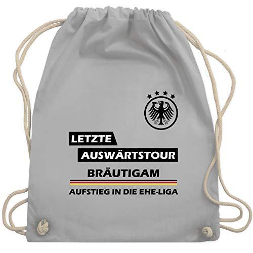 JGA Junggesellenabschied - Letzte Auswärtstour Bräutigam - Unisize - Hellgrau - WM110 - Turnbeutel & Gym Bag (Kostüm De Bräutigam)