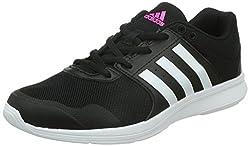 adidas Essential Fun 2, Damen Laufschuhe, Schwarz (Negbas/ftwbla/rosimp), 40 2/3 EU (7 UK)