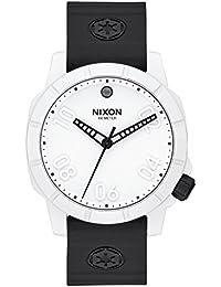 Nixon A468SW2243-00 - Reloj de pulsera hombre, Silicona, color Negro