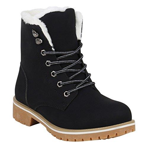 Worker Boots Warm Gefütterte Damen Herren Stiefeletten Stiefel Zipper Kunstfell Outdoor Schuhe 131615 Hellbraun Schwarz Weiss 41 Flandell