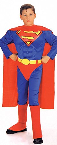 Muskel Deluxe Kostüm Superman Brust - SUPERMAN SUIT 8-10 Jahre 8-10 Jahre