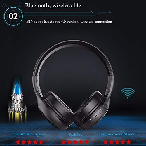 Bluetooth Kopfhörer, ELEGIANT Bluetooth 4.0 Stereo Headset On Ear Kopfhörer mit Digital Display 4 Modi Freisprechfunktion + Mic/ FM Radio/ TF SD Karte Slot/ 3,5mm Audio AUX - 6