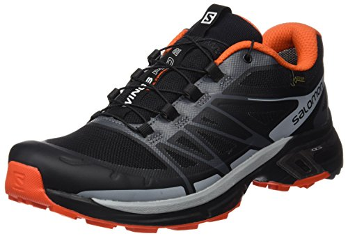 SALOMON Herren Wings Pro 2 GTX Kletterschuhe, Mehrfarbig (Black/Dark Cloud/rd), 40 2/3 EU