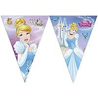 Procos 85692–filare banderines Corazón Disney Princess Cenicienta, AZUL