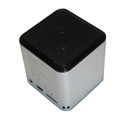 Eurosell DESIGN BLUETOOTH LAUTSPRECHER MINI Box + Radio + Micro SD Slot + Mikrofon Freisprecheinrichtung (Silber)