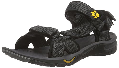 Jack Wolfskin Lakewood Ride Sandal M, Herren Sport- & Outdoor Sandalen, Grau (Burly Yellow 3800), 43 EU (9 Herren UK)