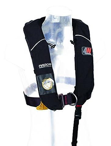 Forwater Argos 150N Gilet de sauvetage gonflable automatique avec harnais Noir 55-130 cm