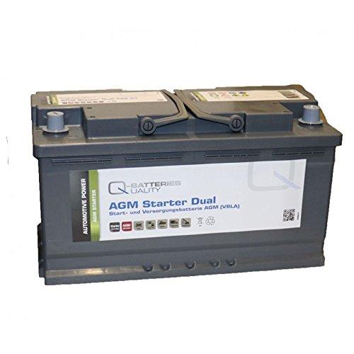 Q de batteries de démarrage et alimentation batterie AGM 12 V 92 Ah 850 A 592 01