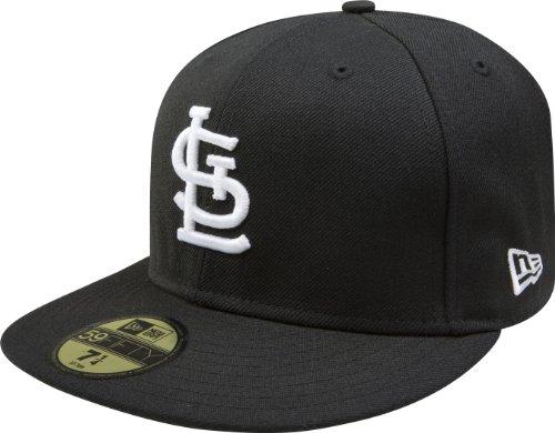 New Era MLB 59FIFTY Cap Schwarz mit Weiß, Herren, 10023464-7 1/2, St. Louis Cardinals, 7 1/2