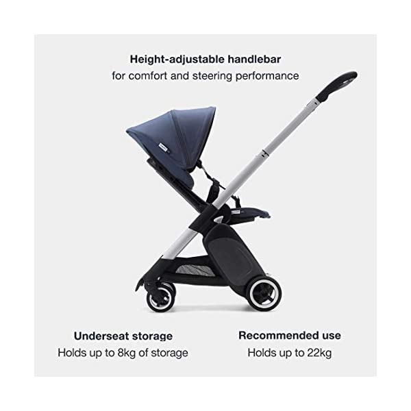 Bugaboo Ant, Lightweight Travel Pushchair with Compact Fold, Converts Into Pram, Black/Neon Red Bugaboo Suitable from birth to toddler Car seat compatible Lightweight and easy to carry 3