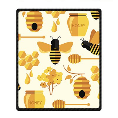 Dalliy coperta in pile alveare delle api fleece blanket 50