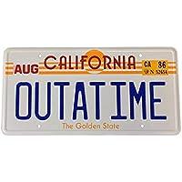 Back to The Future Outatime License Plate. Placa de matrícula de Outatime Back To The Future propulsora, Regreso al Futuro Placa numérica como se ve en Marty Mcfly y Doc Browns DMC-12 Delorean