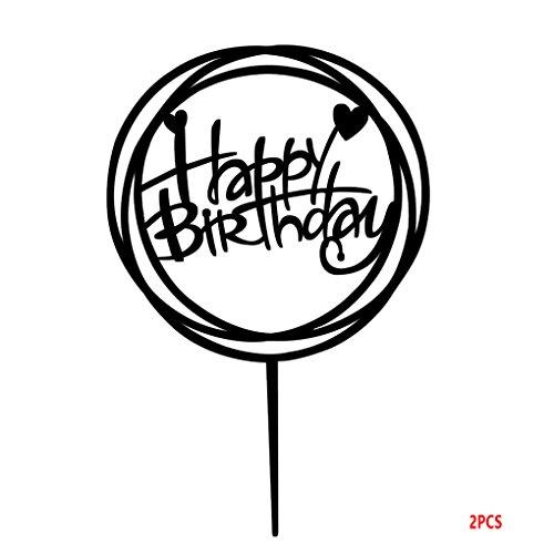 Gute zum Geburtstag Kuchen-Deckel Acryl DIY Kuchen-Kuchen-Smash Kerze Alternative Partei Handmade-Stick ()