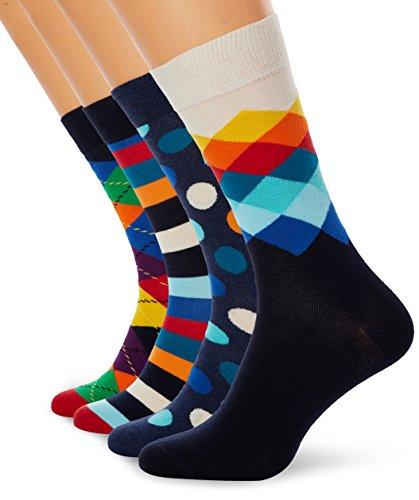 Happy Socks Herren, XMIX09, Mehrfarbig (Mix 6000), 41-46