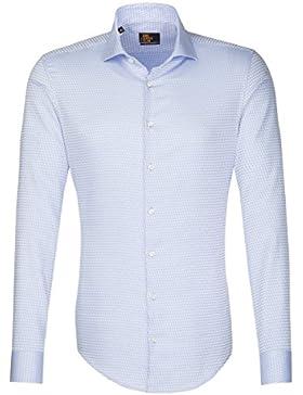 SEIDENSTICKER Herren Hemd Slim 1/1-Arm Bügelfrei City-Hemd Kent-Kragen Kombimanschette weitenverstellbar
