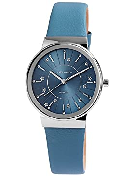 Just Watch Damen Armbanduhr JW11519 Lederband Analog Quarz Blau JW11519-BL