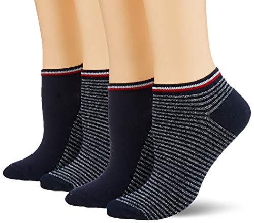 Tommy Hilfiger Damen TH Women Resort Sneaker 2P Socken, Mehrfarbig (Midnight Blue 563), 35/38 (Herstellergröße:035) (2erPack) -