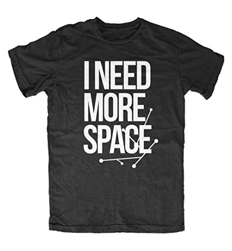 i-need-more-space-double-meaning-sarcastico-uomo-t-shirt-maglietta-nero-large