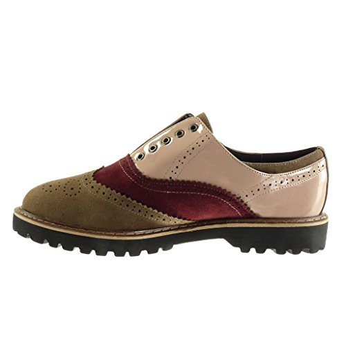 Angkorly Chaussures Mode Derby Femme Bimatiere Perforee Coutures